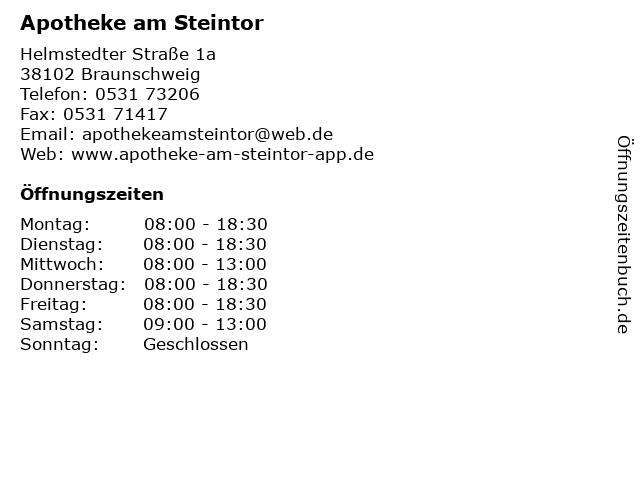 Apotheke am Steintor in Braunschweig: Adresse und Öffnungszeiten