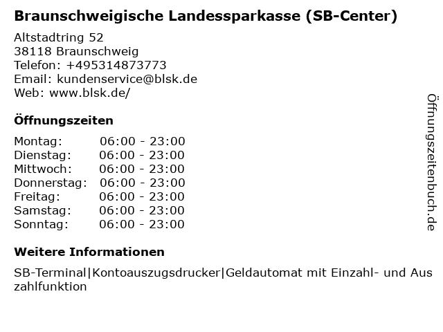 Braunschweigische Landessparkasse - (Geldautomat Altstadtring) in Braunschweig: Adresse und Öffnungszeiten