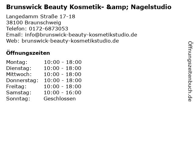 Brunswick Beauty Kosmetik- & Nagelstudio in Braunschweig: Adresse und Öffnungszeiten