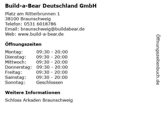 Build-a-Bear Deutschland GmbH in Braunschweig: Adresse und Öffnungszeiten