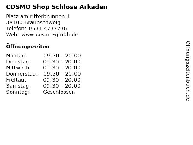 COSMO Shop Schloss Arkaden in Braunschweig: Adresse und Öffnungszeiten