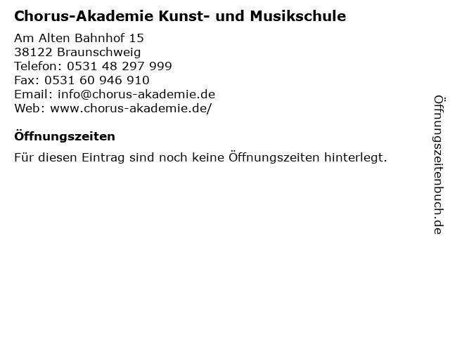 Chorus-Akademie Kunst- und Musikschule in Braunschweig: Adresse und Öffnungszeiten