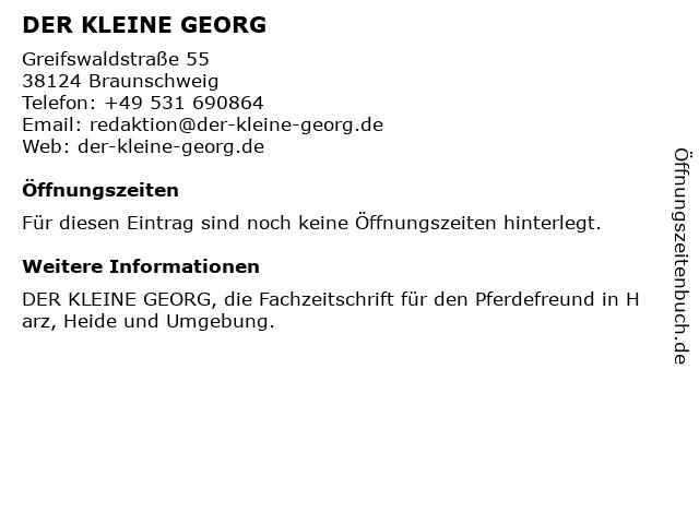 DER KLEINE GEORG in Braunschweig: Adresse und Öffnungszeiten