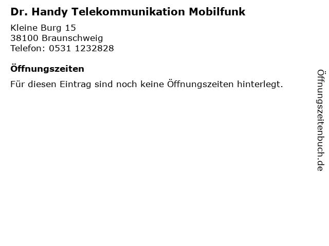 Dr. Handy Telekommunikation Mobilfunk in Braunschweig: Adresse und Öffnungszeiten