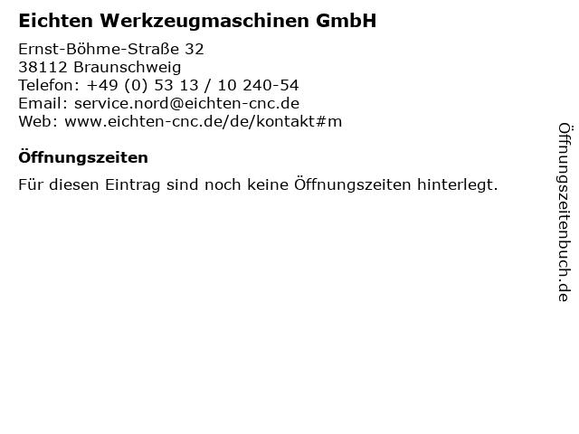 Eichten Werkzeugmaschinen GmbH in Braunschweig: Adresse und Öffnungszeiten