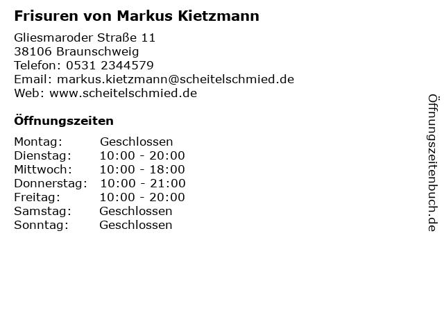 ᐅ öffnungszeiten Frisuren Von Markus Kietzmann Gliesmaroder