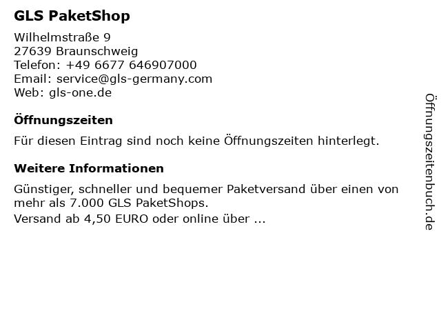 GLS PaketShop in Braunschweig: Adresse und Öffnungszeiten