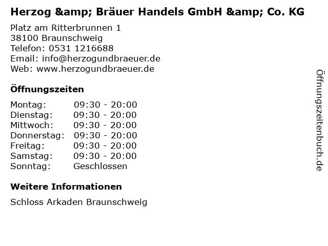 Herzog & Bräuer Handels GmbH & Co. KG in Braunschweig: Adresse und Öffnungszeiten