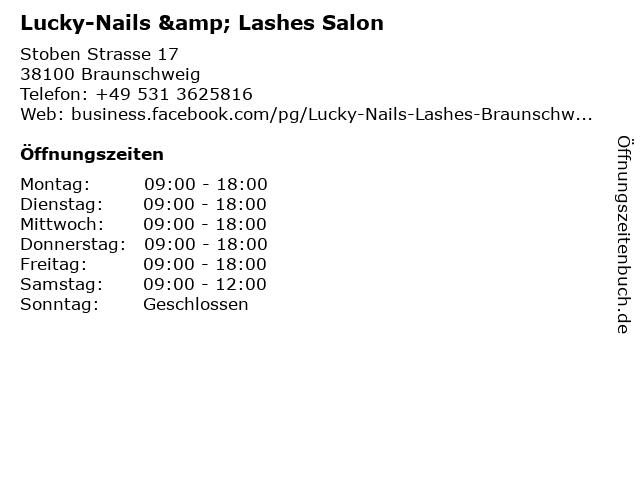 Lucky-Nails & Lashes Salon in Braunschweig: Adresse und Öffnungszeiten