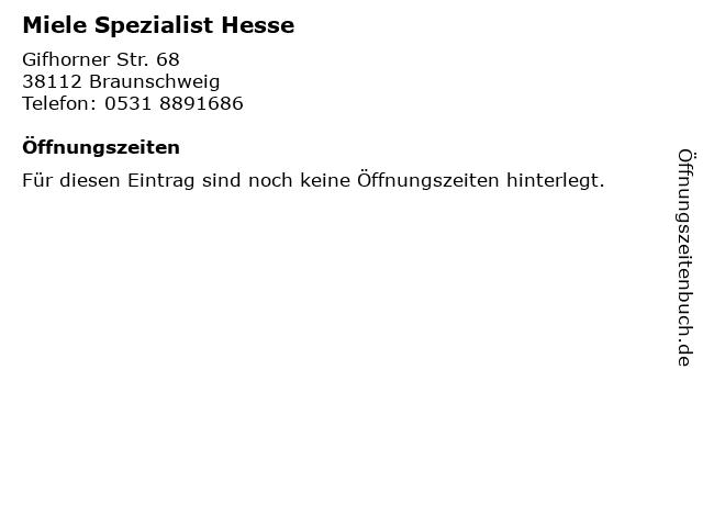 Miele Spezialist Hesse in Braunschweig: Adresse und Öffnungszeiten