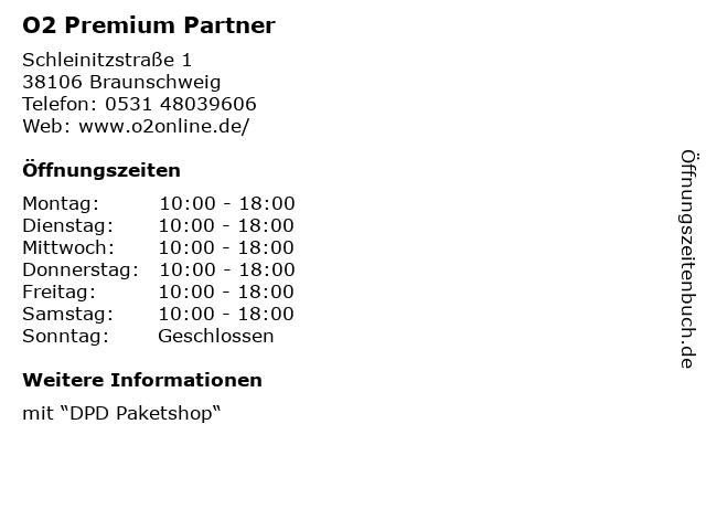 O2 Premium Partner in Braunschweig: Adresse und Öffnungszeiten