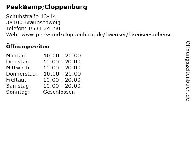 Peek & Cloppenburg KG in Braunschweig: Adresse und Öffnungszeiten