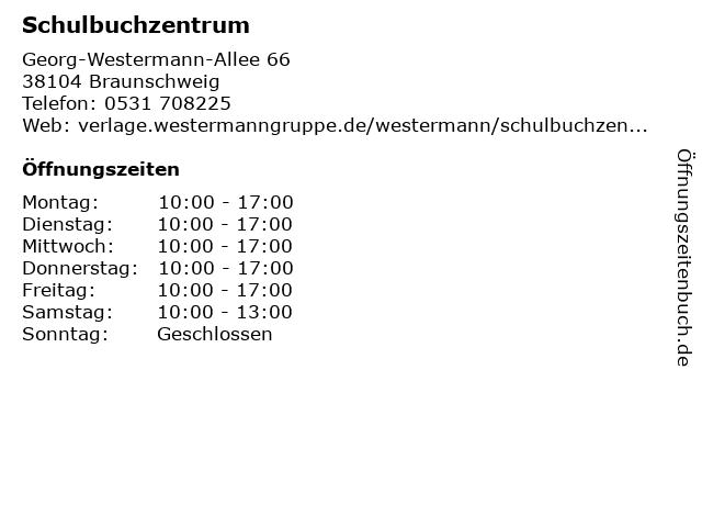 Schulbuchzentrum in Braunschweig: Adresse und Öffnungszeiten