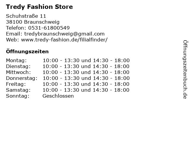 Tredy Fashion Store in Braunschweig: Adresse und Öffnungszeiten