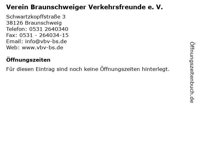 Verein Braunschweiger Verkehrsfreunde e. V. in Braunschweig: Adresse und Öffnungszeiten