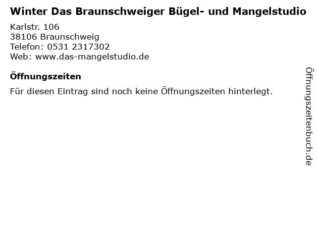 Winter Das Braunschweiger Bügel- und Mangelstudio in Braunschweig: Adresse und Öffnungszeiten