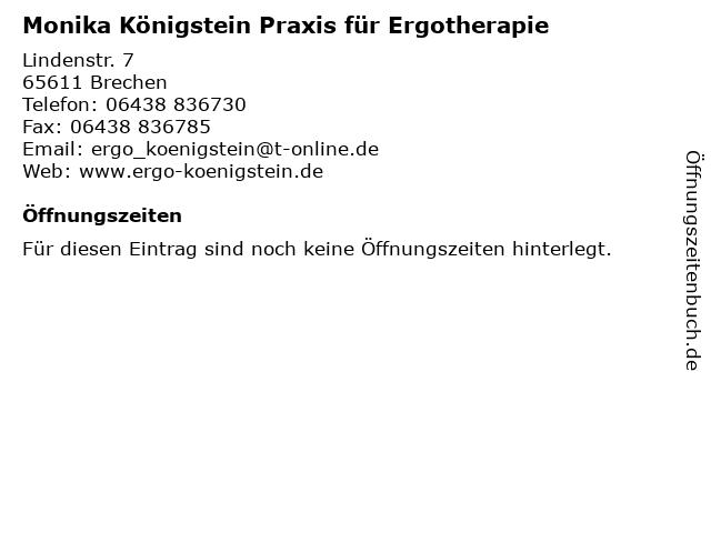 Monika Königstein Praxis für Ergotherapie in Brechen: Adresse und Öffnungszeiten