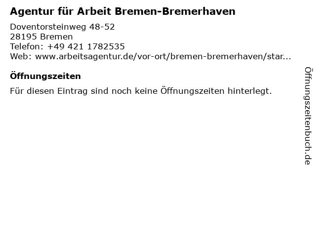 Agentur für Arbeit Bremen-Bremerhaven in Bremen: Adresse und Öffnungszeiten