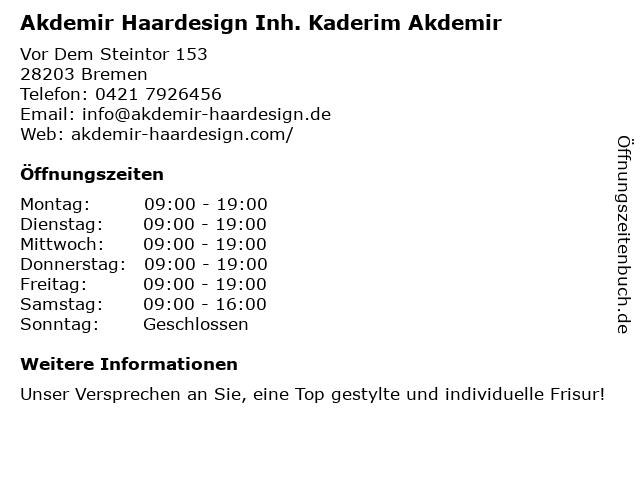 Free Styler Be self Frisör in Bremen: Adresse und Öffnungszeiten
