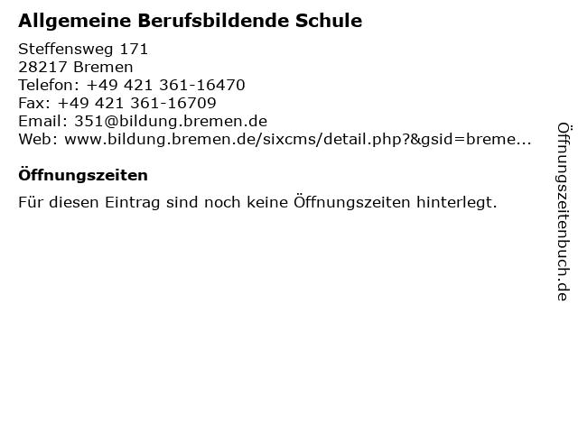 Allgemeine Berufsbildende Schule in Bremen: Adresse und Öffnungszeiten