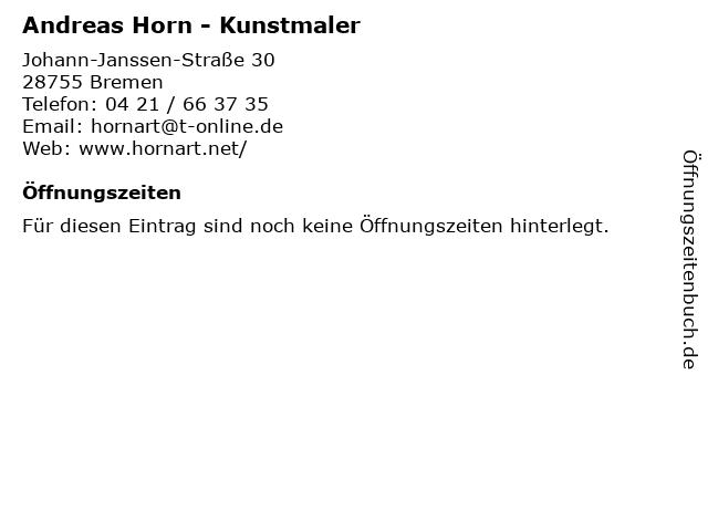 Andreas Horn - Kunstmaler in Bremen: Adresse und Öffnungszeiten