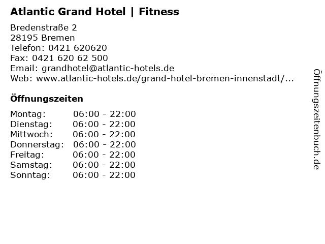 Atlantic Grand Hotel   Fitness in Bremen: Adresse und Öffnungszeiten
