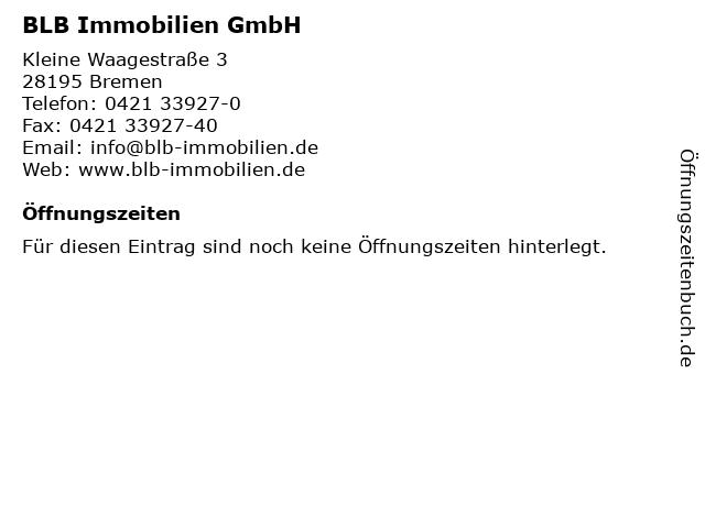 BLB Immobilien GmbH in Bremen: Adresse und Öffnungszeiten