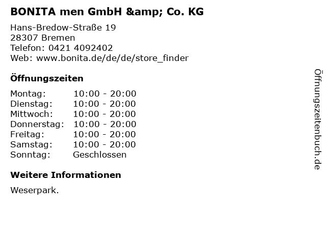 BONITA men GmbH & Co. KG in Bremen: Adresse und Öffnungszeiten
