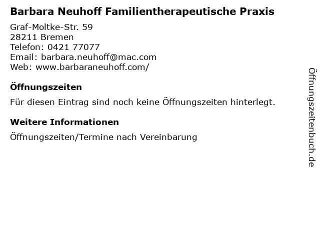Barbara Neuhoff Familientherapeutische Praxis in Bremen: Adresse und Öffnungszeiten