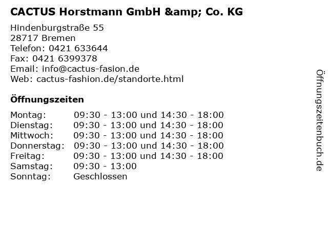 CACTUS Horstmann GmbH & Co. KG in Bremen: Adresse und Öffnungszeiten