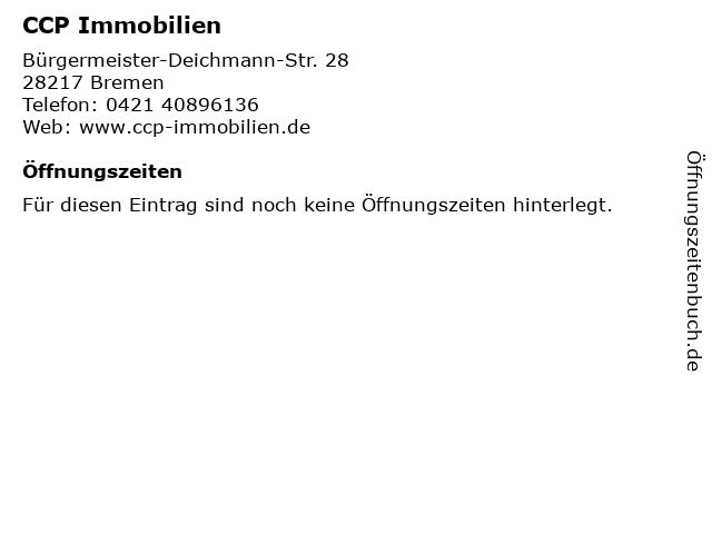 CCP Immobilien in Bremen: Adresse und Öffnungszeiten