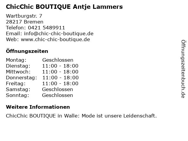 Boutique Antje in Bremen: Adresse und Öffnungszeiten