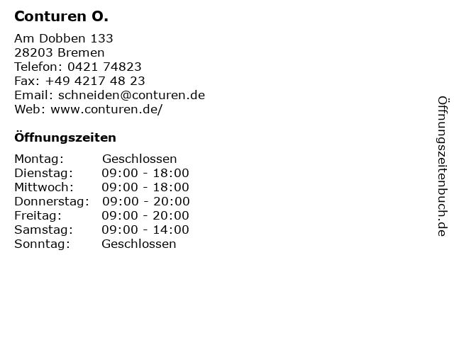 ᐅ öffnungszeiten Conturen O Am Dobben 133 In Bremen