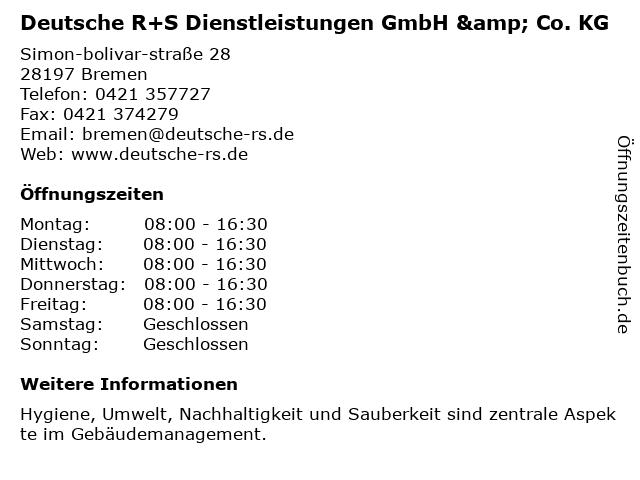 Deutsche R+S Dienstleistungen GmbH & Co. KG in Bremen: Adresse und Öffnungszeiten