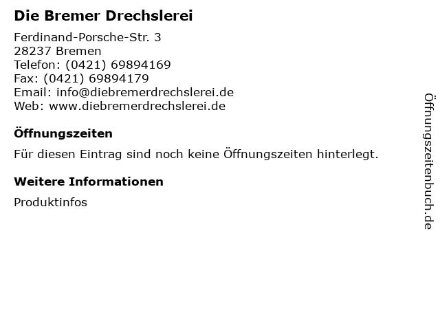 Die Bremer Drechslerei - Massivholzverarbeitung - Handläufe - Möbelbau - Bremen Inhaber: Hans-Peter Schöner in Bremen: Adresse und Öffnungszeiten