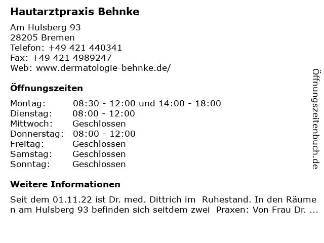 Dr. med. Ferdinand Dittrich in Bremen: Adresse und Öffnungszeiten