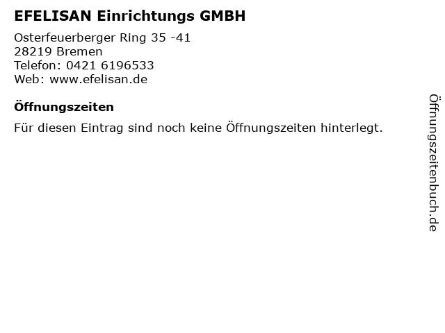 ᐅ öffnungszeiten Efelisan Einrichtungs Gmbh Osterfeuerberger