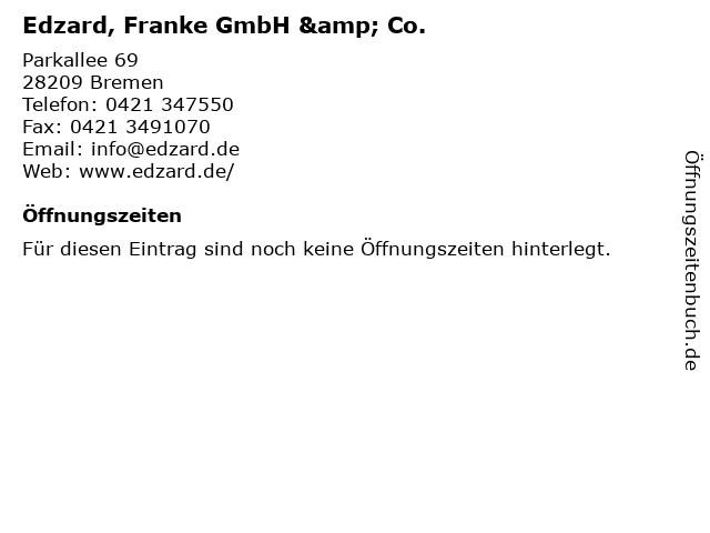 Edzard, Franke GmbH & Co. in Bremen: Adresse und Öffnungszeiten