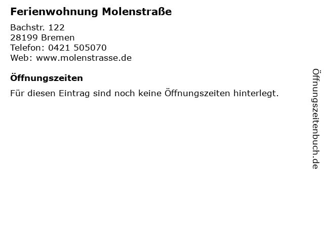 Ferienwohnung Molenstraße in Bremen: Adresse und Öffnungszeiten