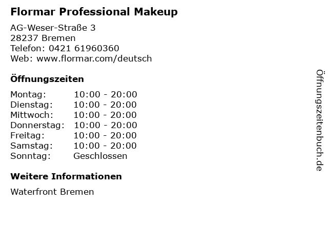 Flormar Professional Makeup in Bremen: Adresse und Öffnungszeiten