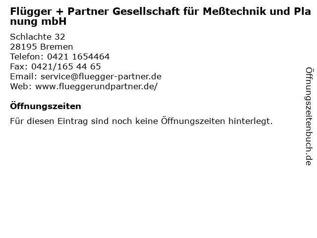 Flügger + Partner Gesellschaft für Meßtechnik und Planung mbH in Bremen: Adresse und Öffnungszeiten
