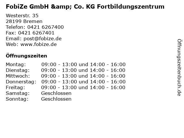FobiZe GmbH & Co. KG Fortbildungszentrum in Bremen: Adresse und Öffnungszeiten
