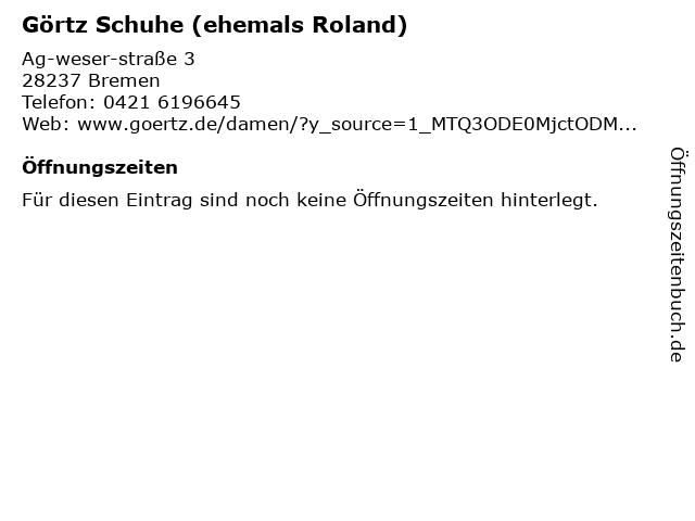 ROLAND Schuhe in Bremen: Adresse und Öffnungszeiten