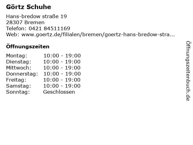 Görtz 17 GmbH in Bremen: Adresse und Öffnungszeiten