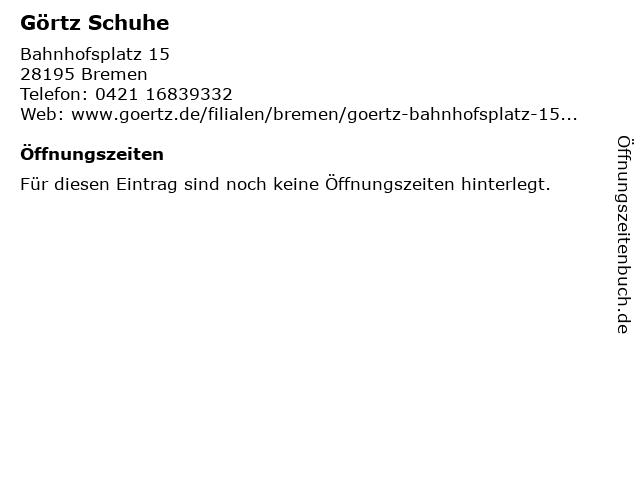 Görtz 17 in Bremen: Adresse und Öffnungszeiten