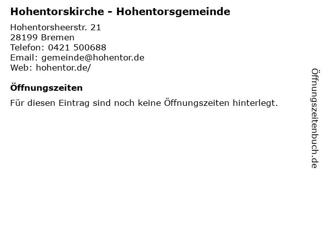 Hohentorskirche - Hohentorsgemeinde in Bremen: Adresse und Öffnungszeiten