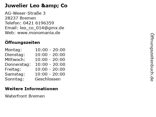 Juwelier Leo & Co in Bremen: Adresse und Öffnungszeiten