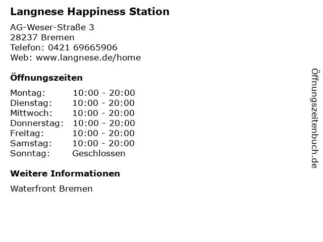 Langnese Happiness Station in Bremen: Adresse und Öffnungszeiten