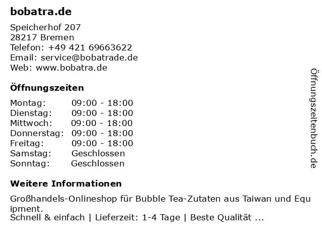 Lawonce Express Logistics e.K. in Bremen: Adresse und Öffnungszeiten