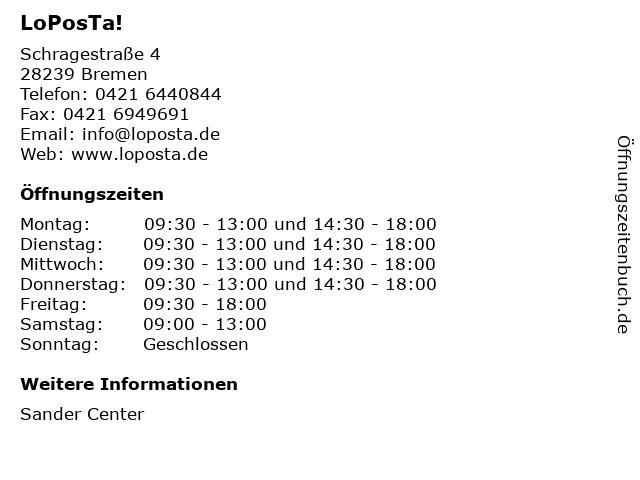 LoPosTa! in Bremen: Adresse und Öffnungszeiten